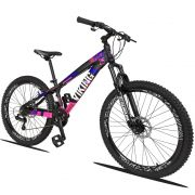 Bicicleta Quadro 13 Aro 26 Alumínio 21v Freio Disco Vmaxx Freeride Tuff - Viking