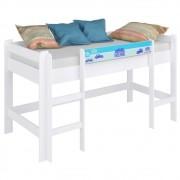 Cama Infantil Cabaninha BB 870 Branco/Azul - Completa Móveis
