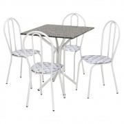 Conjunto de Mesa e 04 Cadeiras Thais com Tampo em Granito - Artefamol