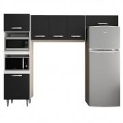 Cozinha Modulada 3 Módulos Composição 7 Branco/Preto - Lumil