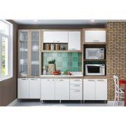 Cozinha Modulada Toscana 04 Peças com Paneleiro de Vidro - Multimóveis