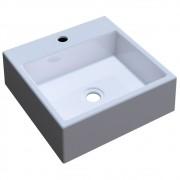 Cuba Pia De Apoio Para Banheiro Quadrada Q355W Branco C08 - Mpozenato