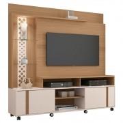 Estante Home Theater Para TV até 55 Polegadas Vitral Freijó/Off White - HB Móveis