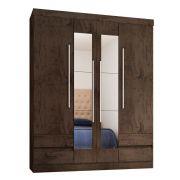 Guarda Roupa Casal 4400 4 Portas com Espelho - Araplac