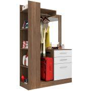 Guarda Roupa Closet Conjugado 1 Porta com Espelho Liz - Móveis Leão