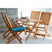 Jogo de Mesa Acqualung com 4 Cadeiras Dobráveis - Mão & Formão