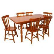 Jogo de Mesa Daiana com 6 Cadeiras em Madeira Maciça - Piratini