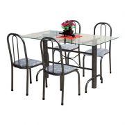 Jogo de Mesa e 04 Cadeiras para cozinha Itália - Marcheli