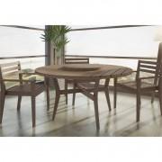 Jogo de Mesa Quarter em Madeira Maciça com 3 Cadeiras - Mão & Formão