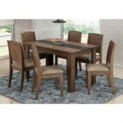 Jogo Para Sala de Jantar com 6 Cadeiras Bárbara - Cimol Móveis
