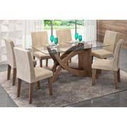 Jogo Para Sala de Jantar Flávia com 6 Cadeiras Milena - Cimol Móveis