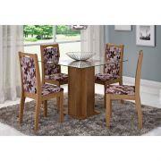 Jogo Para Sala de Jantar Sophia com 4 Cadeiras Lívia - Cimol Móveis