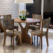 Jogo Sala de Jantar Mesa e 4 Cadeiras TM11 MDF - Dalla Costa