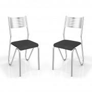 Kit 2 Cadeiras 2C045CR Nápoles - Kappesberg