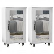 Kit 2 Sapateiras com Espelho Madri 1 Porta - Lumil Móveis