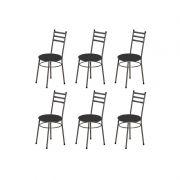 Kit 6 Cadeiras Baixas 3/4 135 Redonda - Marcheli