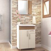 Kit Banheiro Gabinete Lavatório e Armário com Espelho Fit - Bosi