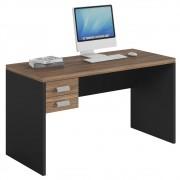 Mesa Computador Escrivaninha Studio com 2 Gavetas Argan/Preto TX - Caemmun