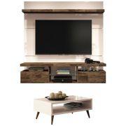Mesa de Centro Lucy com Painel para TV Livin 1.6 - HB Móveis