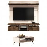 Mesa de Centro Lucy com Painel para TV Livin 1.6 - HB Moveis