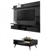 Mesa de Centro Lucy com Painel para TV Livin 1.8 - HB Moveis