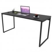 Mesa de Escritório Office 150cm Estilo Industrial Prisma C08 Preto Onix - Mpozenato