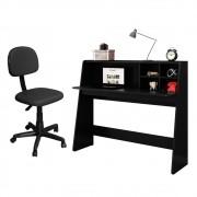 Mesa para Computador Escrivaninha Idealle C10 e Cadeira Giratória CS-02 Preto - Mpozenato