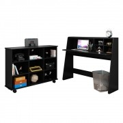 Mesa para Computador Escrivaninha Idealle e Nicho Multiuso Toys C11 Preto - Mpozenato