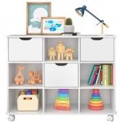 Nicho Organizador Multifuncional com Rodízios Toys Q01 3 Gavetas Branco - Mpozenato