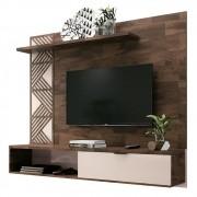 Painel Bancada Suspensa para TV até 50 Polegadas Grid Deck/Off White - HB Móveis
