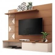 Painel Bancada Suspensa para TV até 50 Polegadas Grid Nature/Off White - HB Móveis