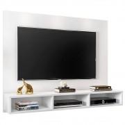 Painel TV Bancada Suspensa para TV de até 50 Polegadas Quartzo Branco - Móveis Leão
