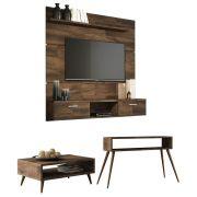 Painel TV Flat 1.6 com Aparador Quad e Mesa de Centro Lucy - HB Moveis