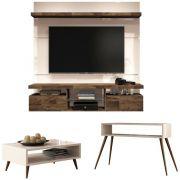 Painel TV Livin 1.6 com Aparador Quad e Mesa de Centro Lucy - HB Moveis