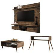 Painel TV Livin 1.8 com Aparador Quad e Mesa de Centro Lucy - HB Móveis