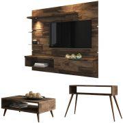 Painel TV Ores com Aparador Quad e Mesa de Centro Lucy - HB Móveis
