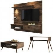 Painel TV Ores com Aparador Quad e Mesa de Centro Lucy - HB Moveis