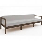 Sofá 3 Lugares Componível Lazy com Almofadas - Mão & Formão