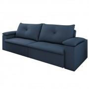 Sofá Retrátil Reclinável Sala de Estar 3 Lugares 230cm Tico Suede Azul - D'Monegatto