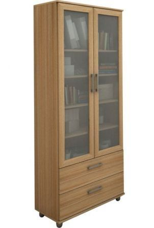 Estante para Livros Livramento com 2 Portas com Vidro - Politorno