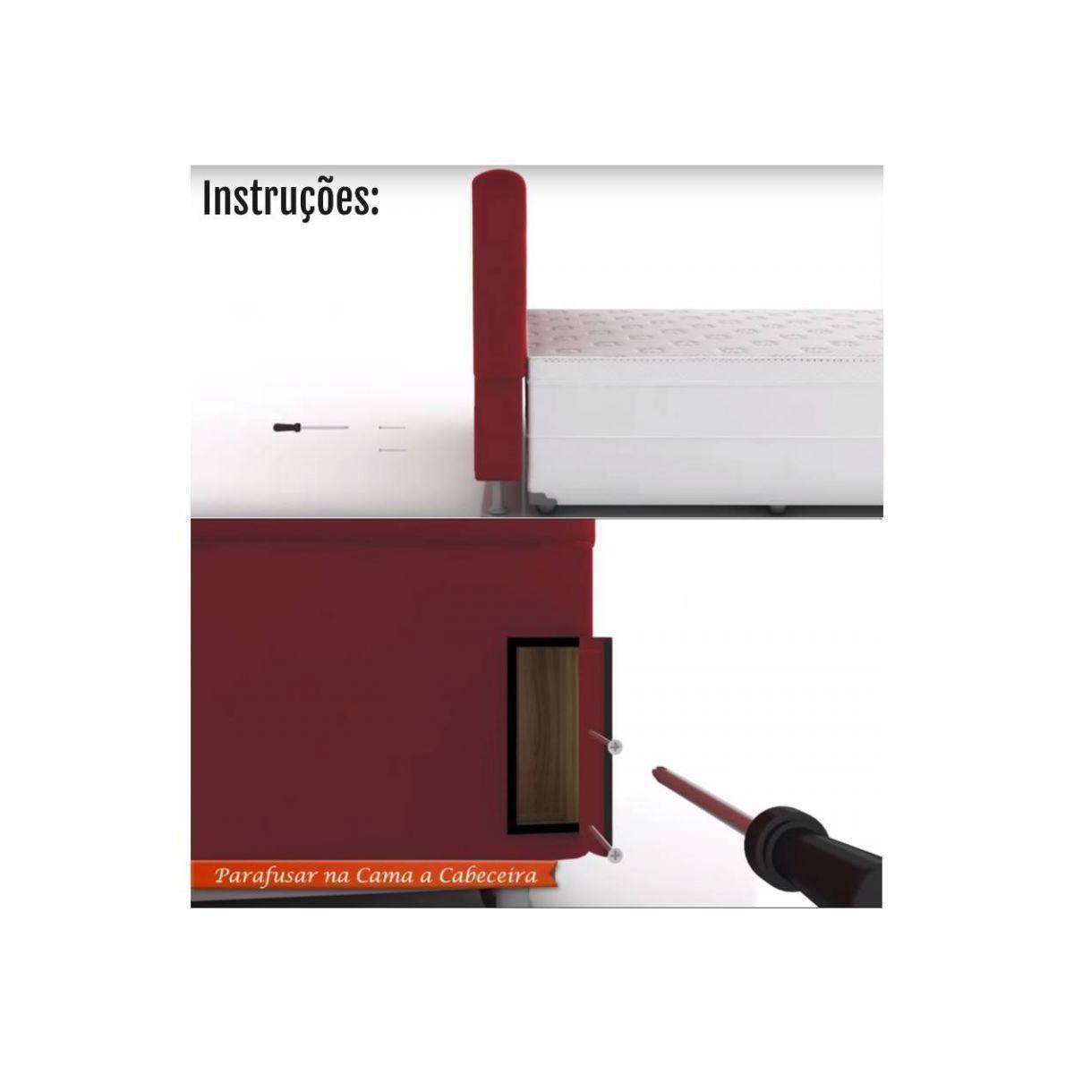 Cabeceira Damares para Cama Box Solteiro 90 cm com Botões em strass - Bremol