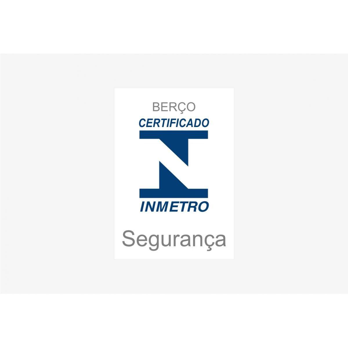 Jogo de Quarto Infantil com Guarda Roupa 03 Portas Lorena com Berço Certificado pelo Inmetro Bambini - Phoenix Baby