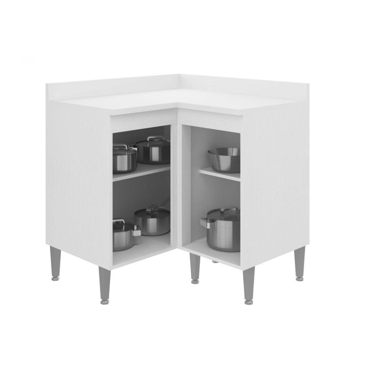 Balcão de Canto Modulado para Cozinha 5029 Toscana - Multimóveis