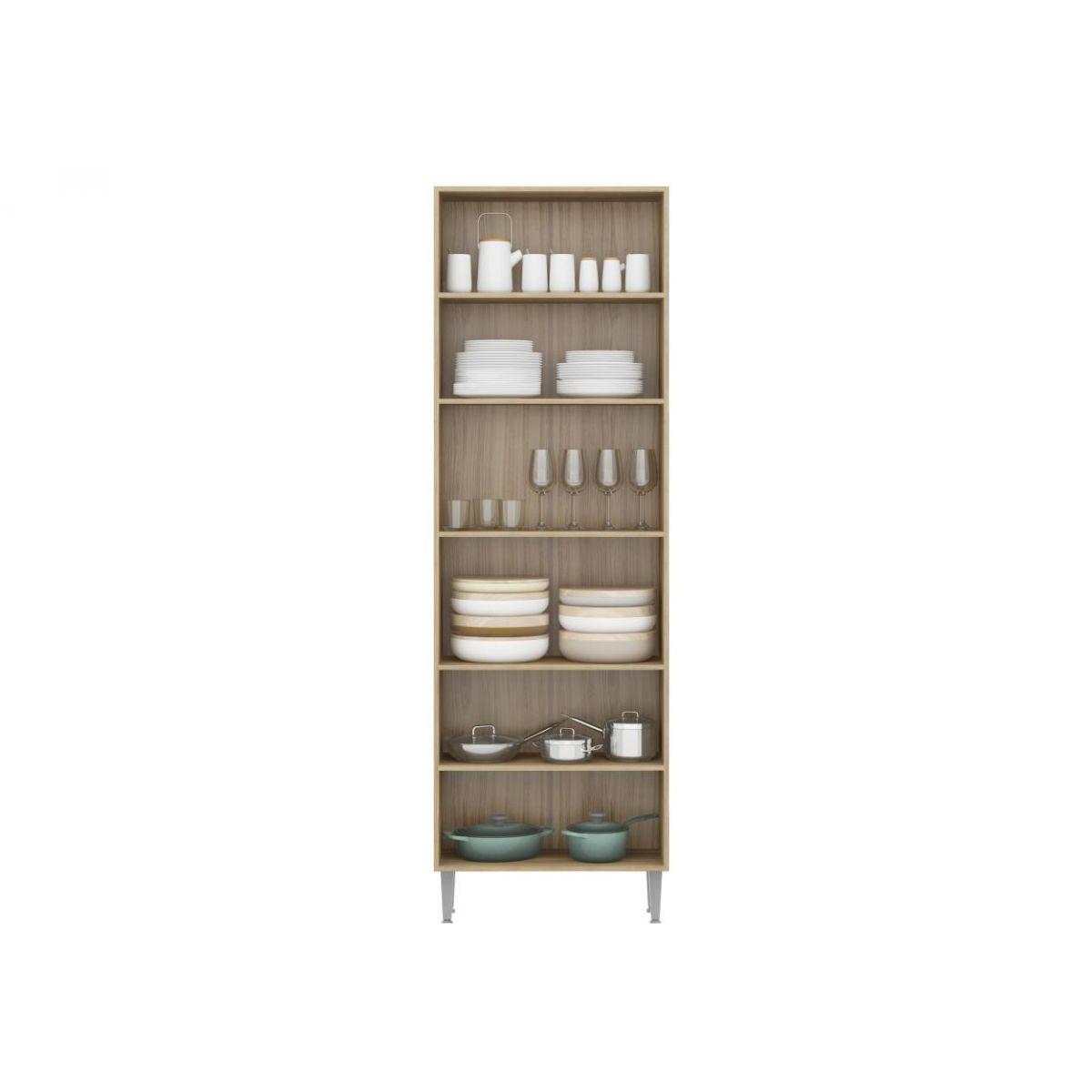 Paneleiro Modulado de 70 cm com Porta de Vidro para Cozinha 5021 Toscana - Multimóveis