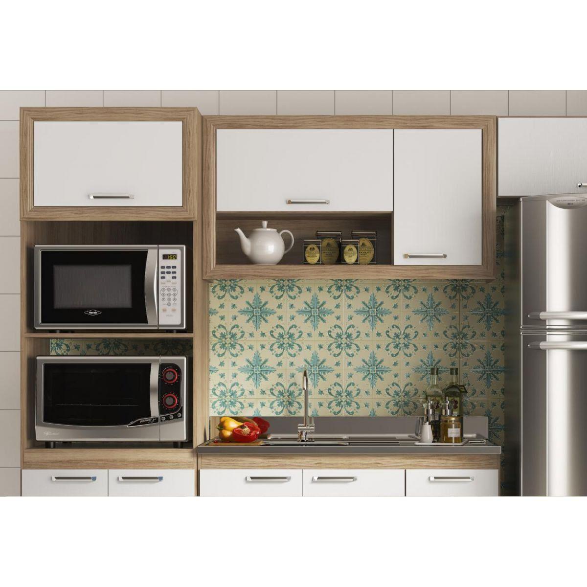 Ambiente Cozinha Modulado com Balcão para Cuba 120 cm Toscana - Multimóveis