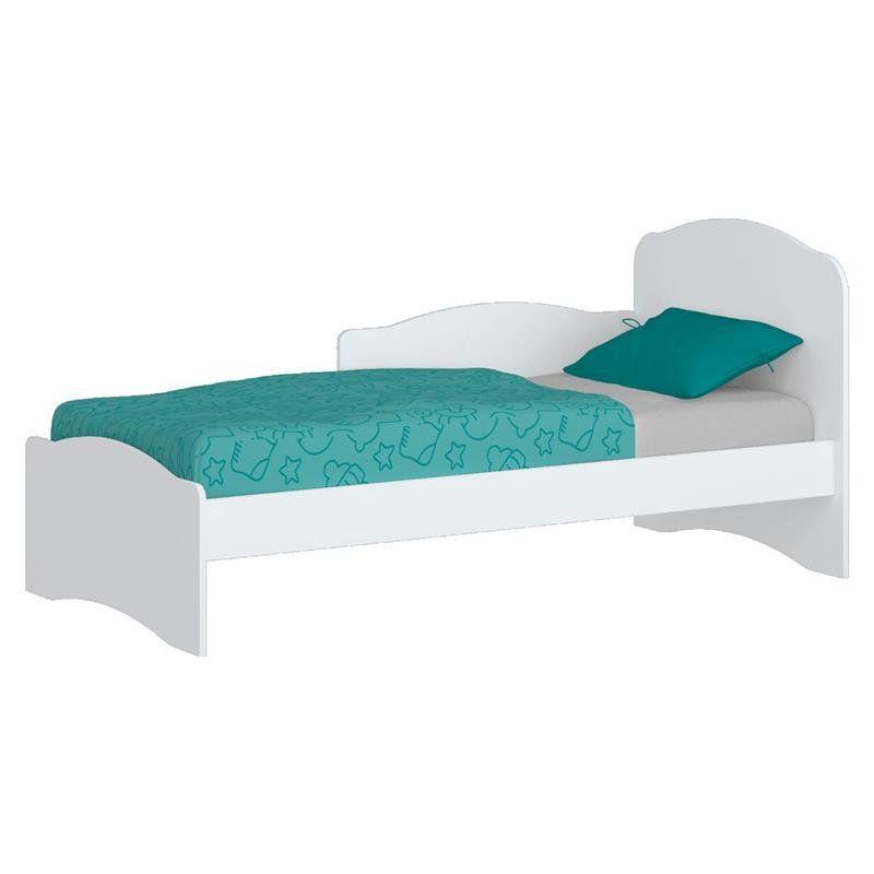 Berço que vira mini cama Bala de Menta Branco - Henn