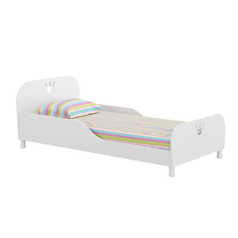 Cama Infantil 100% MDF 2320 Branco Brilho - Multimóveis
