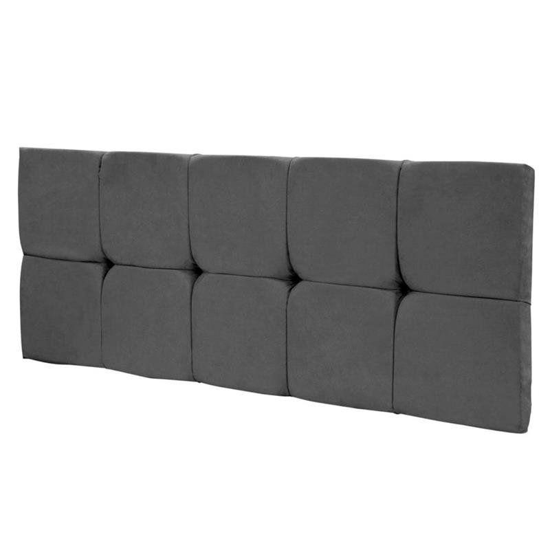 Cabeceira Painel Nina para Cama Box de Solteiro 100 cm Cinza - Jm Estofados