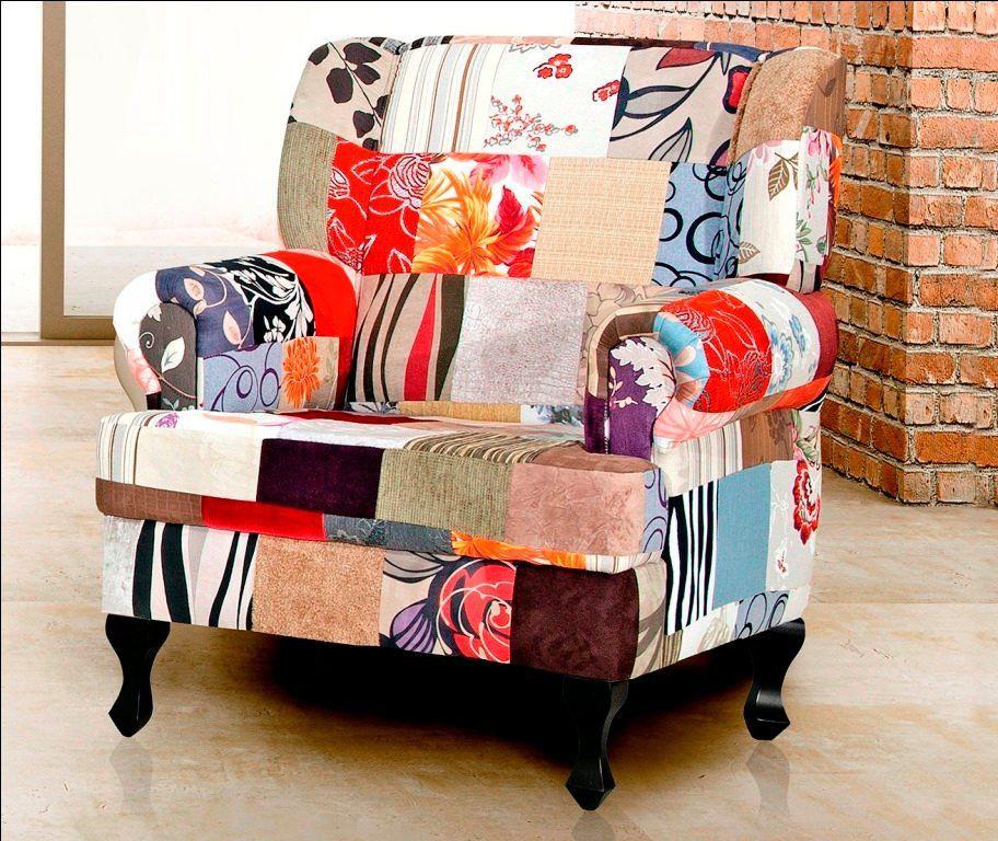 Kit 02 Poltronas Decorativas Patchwork Anastacya - Domi
