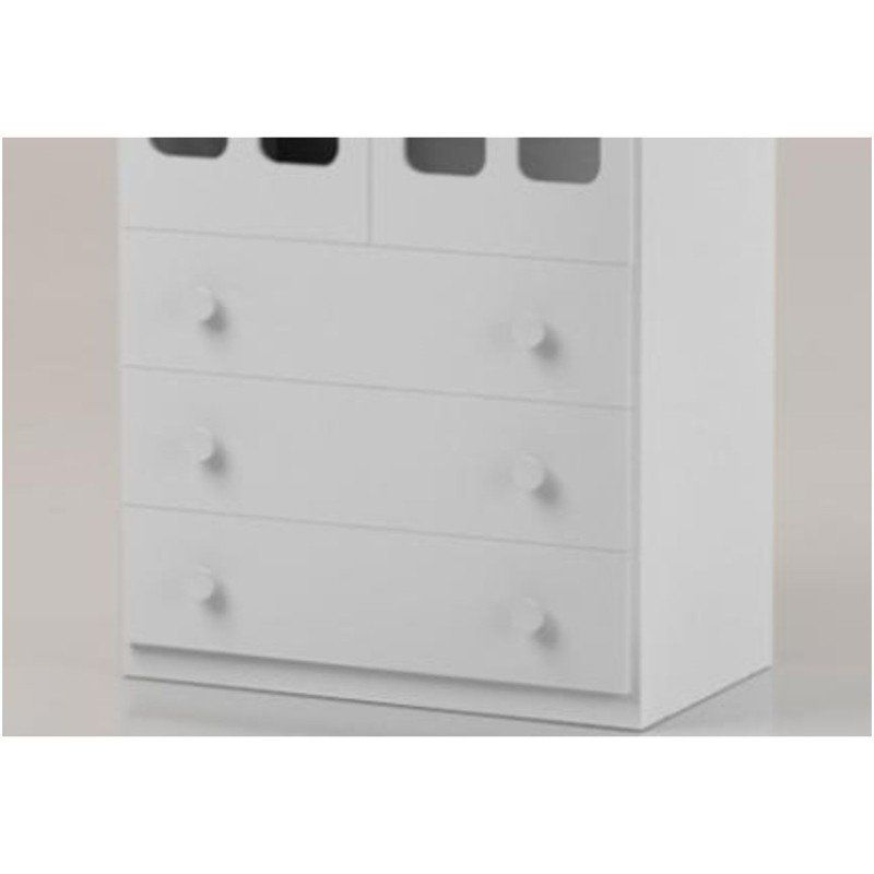 Roupeiro Infantil com 02 Portas de Acrílico Delicato Branco Brilho - Matic